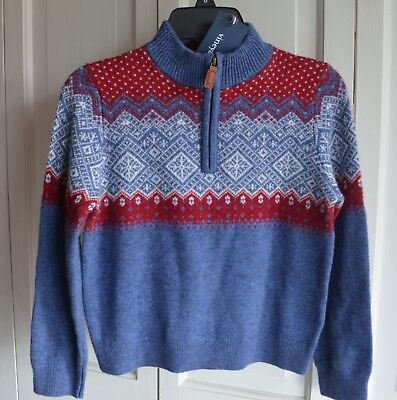 NWT $75 Vineyard Vines Boys Holiday Intarsia Sweater 1/2 Zip Size 6
