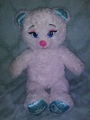 Build a Bear Disney FROZEN ELSA PLUSH TEDDY STUFFED ANIMAL SOFT TOY WHITE