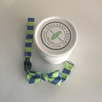 Collared Greens Toddler Bow Tie Green And Blue Stripes NWT