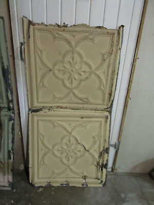 Antique Decorative Tin Ceiling Double Tile Panel (4'x2'), #123