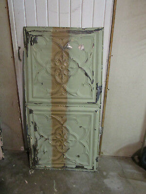 Antique Decorative Tin Ceiling Double Tile Panel (4'x2'), #112