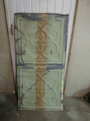Antique Decorative Tin Ceiling Double Tile Panel (4'x2'), #105