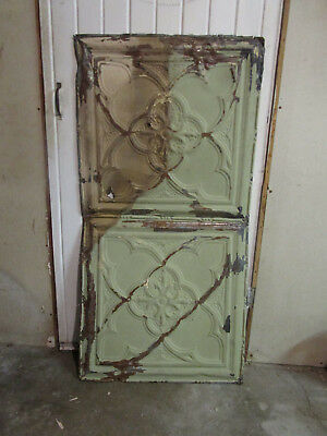 Antique Decorative Tin Ceiling Double Tile Panel (4'x2'), #102