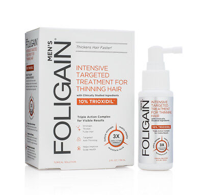 FOLIGAIN HAIR REGROWTH TREATMENT For Men with 10% Trioxidil® (2oz) 59ml