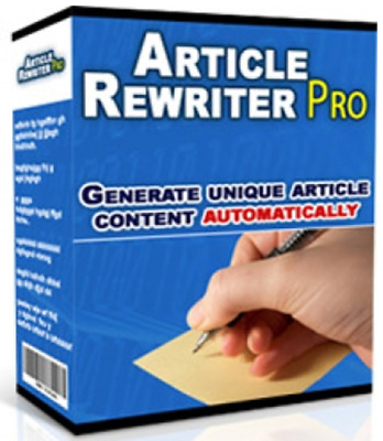 Article Rewrite Pro Software W/ Master Resell Rights Make Money Online Business