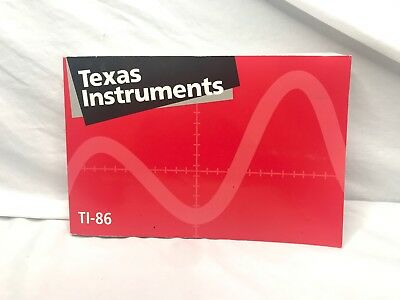 Texas Instruments TI-86 Graphing Calculator Guidebook Owners Manual