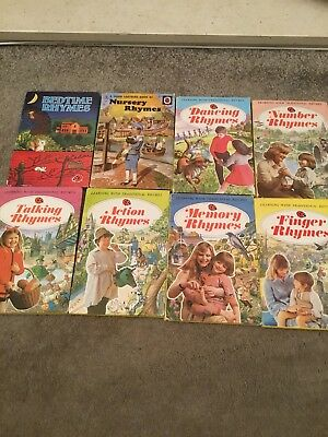 8 Vintage Ladybird book Selection Of Rhymes Books Most 1976/77 One 1967