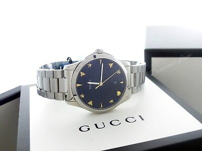 d14279210f0 Gucci Men s G-Timeless Stainless Steel Bracelet Swiss Quartz Watch YA1264029