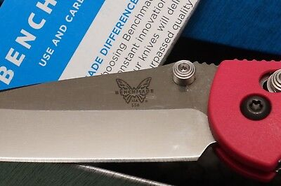 Benchmade knives Mini Griptilian 556 d2 Knife D2 Blade Serrated HOT PINK
