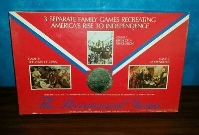 Vintage 1975 The Bicentennial Games 3 in 1 Board Game Series 1 Complete