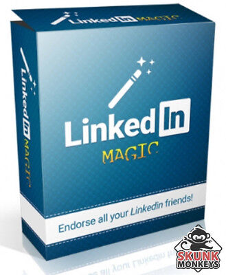LinkedIn Magic Software W/ Master Resell Rights Make Money Online Home Business