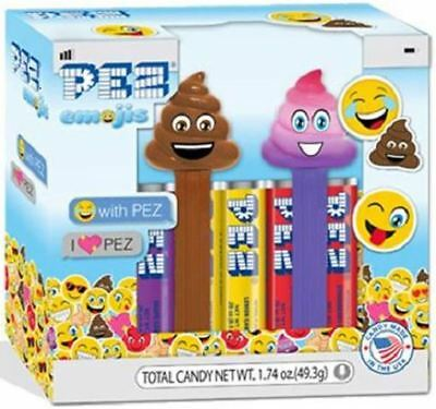 Emoji Poop And Rainbow Poop Pez - Boxed Set With Candy! - Title Is Correct!