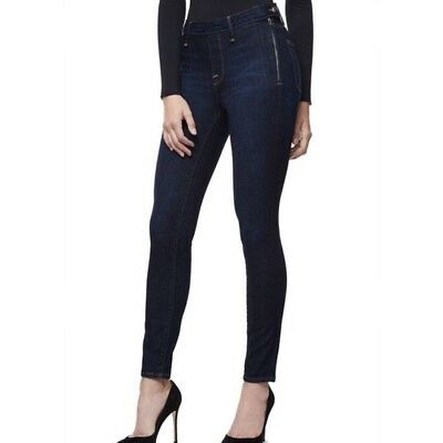 NWT Good American High Waist Side Zip GASZ148 Blue051 Skinny Jeans Size: 12/31