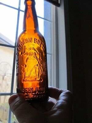 ORANGE AMBER-THE GERMAN BREWING CO.-BEER EARLY(1900'S) (Near Mint)!