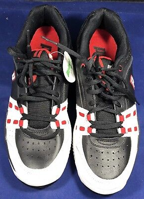 Prince Professional Tennis Shoes Mens New Sz 7.5 Red Blk White 04/12 Top Quality