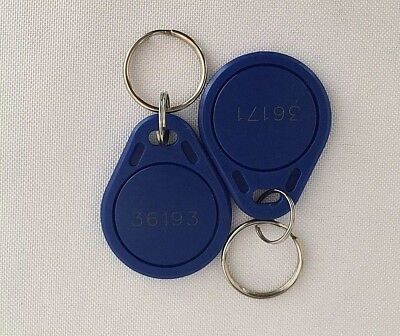 100 Proximity Key Fob Works With HID ProxKey 1346 H10301 26-Bit 125kHz Lot