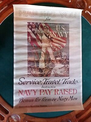 Vintage Hailing You Navy Poster 1970s 900 Picclick