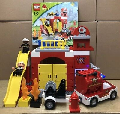 Lego Duplo Fire Truck Car Bike Bundle Job Lot Engine Station Toy