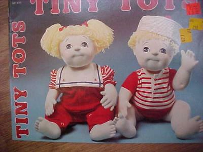 Tiny Tots Soft Sculpture Doll Pattern w/clothing by Gick Unused