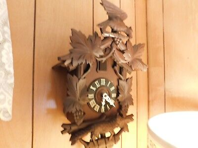 Fox And Grapes With Eagle On Topper Cuckoo Clock