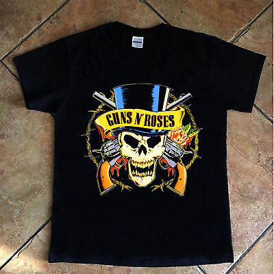 "GUNS N ROSES /""Get In The Ring Tour 91-92/"" Tshirt Rare Black Gildan 100/% Cotton"