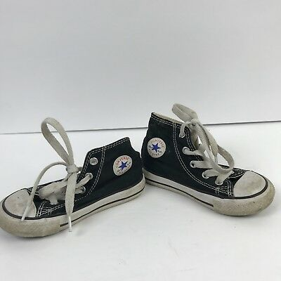 Converse all Star Chuck Taylor Black Little Kids Sneakers Toddler Size 7