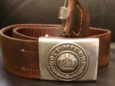 Imperial German, Mid-Late WW1 Enlisted Man's Belt & Buckle, Kingdom of Prussia