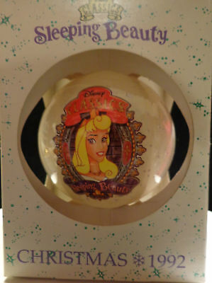 Schmidt 1992 Disney Classics Sleeping Beauty Glass Ornament Vintage ~ Nib!*