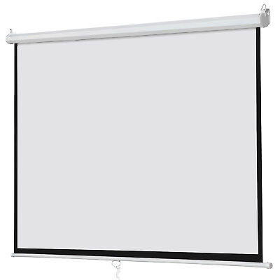 """100"""" Big Projector Screen 16:9 Projection HD Home Theater Portable Movie Screen"""