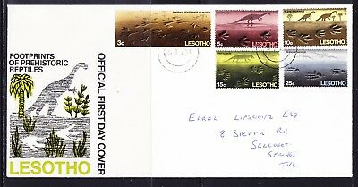 Lesotho 1970 Dinosaurs First Day Cover Addresed