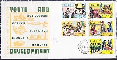 Lesotho 1974 Youth and Development First Day Cover
