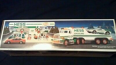 1991 Hess toy truck and racer mint in box