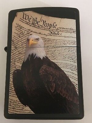 Zippo Windproof Lighter With USA Constitution & Bald Eagle, 68020, New In Box