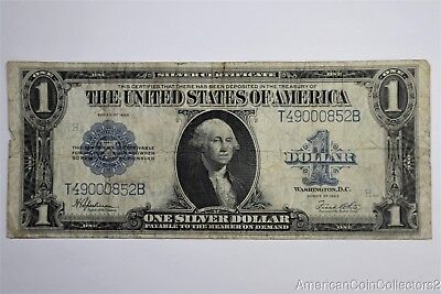 1923 $1 Dollar US Silver Certificate Horse Blanket Large Currency Fr 237 | 11584