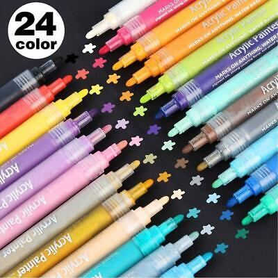 Acrylic Paint Pens for Rock Painting, Stone, Glass, Ceramic,Set of 12 Markers