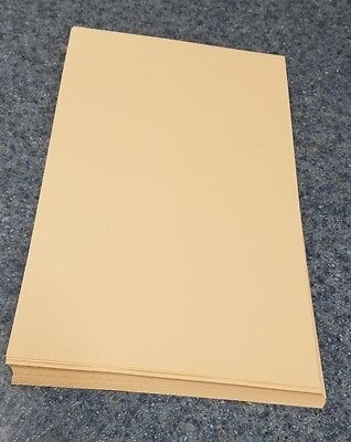 "50 Sheets of 8.5 X 14"" Legal / Menu Size 67lb. Vellum Peach Card Stock"