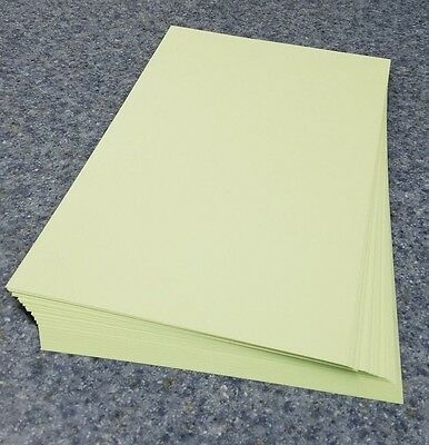 "50 Sheets of 8.5 X 14"" Legal / Menu Size 67lb. Vellum Pastel Green Card Stock"