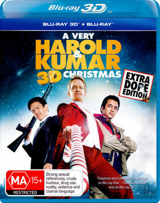 A Very Harold & Kumar 3D Christmas (Extra Dope Edition  - BLU-RAY - NEW Region B