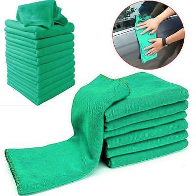 High-quality Green Microfiber Cleaning Auto Car Detailing Soft Cloths Wash Towel