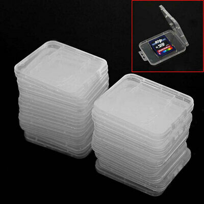 20PC/set Plastic Clear SD SDHC Memory Card Storage Case Box Protector Holder New