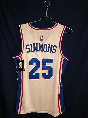 brand new 9ff5c fe39f NWT BEN SIMMONS #25 Philadelphia 76ers White Jersey Stitched Men