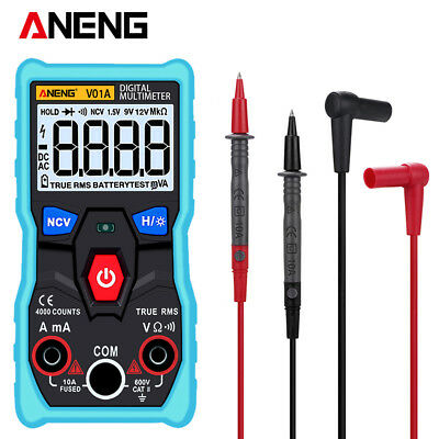 LCD Digital Multimeter Electrical Fully Auto Range Test Probe AC/DC Voltage