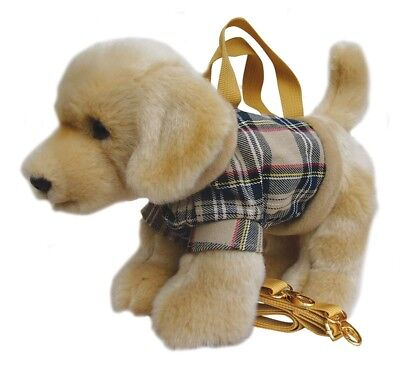 Faithful Friends Labrador Yellow Soft Toy Dog Handbag/Shoulder Bag 12""