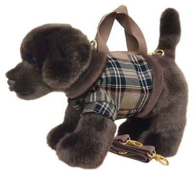 Faithful Friends Labrador Chocolate/Brown Soft Toy Dog Handbag/Shoulder Bag 12""