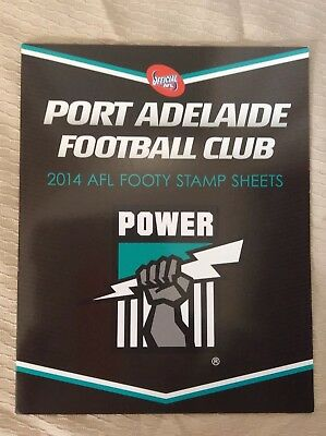 Footy Stamps 2014 Port Adelaide Football Club Footy AFL Stamps Sheet