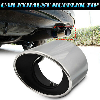 For Honda Accord 08-12 Exhaust Muffler Tail Tip Oval Pipe Chrome Stainless Steel
