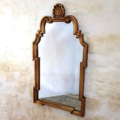 """Rococo Style Large Gilt Frame Wall Mirror 3""""8' x 2"""" (Antique)"""