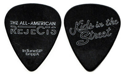 THE ALL AMERICAN REJECTS Guitar Pick 2012 Kids In The Street Tour AAR black