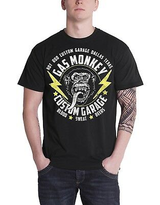 Official Gas Monkey Garage Lightning Bolts T Shirt
