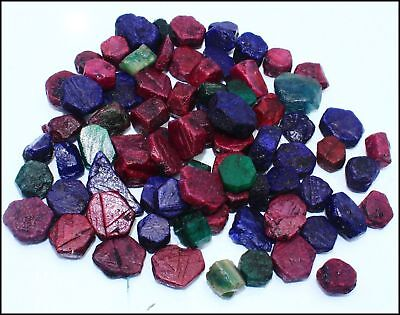 500 Ct GGL Certified Natural Ruby And Sapphire Emerald Rough Gemstone Lot